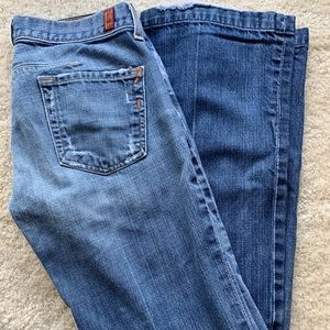 7 for All Mankind stove pipe jeans